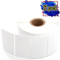 """Parts Flix Zebra 2-1 4"""" X 1-1 4"""" LP2844 Compatible Direct Thermal Shipping And Address Labels 1000 Labels Per Roll 12 Pack"""