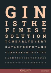 GinSanity - The Gin Eye Test A4 Poster