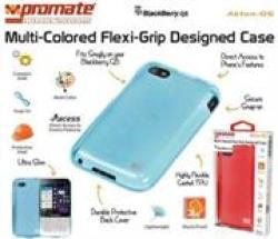 Promate AKTON-Q5 Blackberry Q5 Multi-colored Flexi-grip Designed Case Black Retail Box 1 Year Warranty Multi-coloured Flexi-grip
