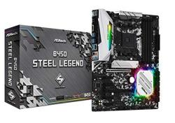 Asrock B450 Steel Legend Socket AM4 Amd Promontory B450 DDR4 Quad Crossfirex SATA3&USB3.1 M.2 A&gbe atx Motherboard