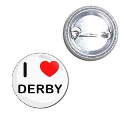 I Love Derby - 25MM Button Badge