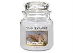 Yankee Candle Autumn Pearl Medium Jar Retail Box No Warranty