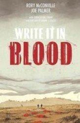 Write It In Blood Paperback