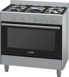 Bosch 90cm Gas Cooker in Silver