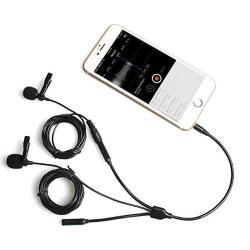 MCWAUTO Professional Grade Lavalier Microphone Mini-Recording of MIC 3.5mm Speech//Microphone//Interview//Recording//K Song