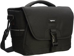 AmazonBasics Medium Dslr Gadget Bag Gray Interior