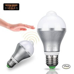 Motion Sensor Light Bulb Haimi Tree 9W E26 E27 Smart Pir LED Bulbs Auto On off Night Lights For Stairs Garage Corridor Walkway Yard Hallway Patio