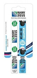 1ART1 Rugby Wristband For Collectors - World Cup 2015 Shaun The Sheep 4 X 1 Inches