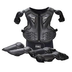 Takuey Kids Motorcycle Motorbike Full Body Armor Protective Gear Equipment Chest Spine Back Protector Shoulder Arm Elbow Knee Pr