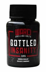 Ward Smelling Salts - Bottled Insanity - Insanely Strong Ammonia Inhalant Smelling Salt For Powerlifting Hockey Football And More