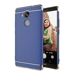 Qissy Huawei Mate 8 Case 3 In 1 Hybrid PC Armor Hard Back Cover Resilient Shock Absorption For Huawei Mate 8 6.0INCHES Blue