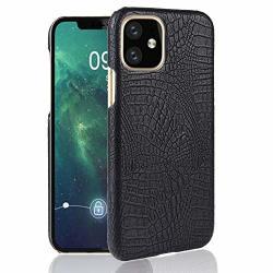Liaotian For Iphone 11 Pu Case + Shockproof Crocodile Texture PC Black Color : Black