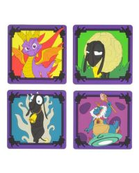 Spyro The Dragon Silicone Coasters 4 Pack