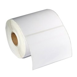 """Linkage Labels Inc. 2 Rolls 250 ROLL Of 4""""X 6"""" Direct Thermal Blank Shipping Labels 1 Core For Zebra 2844 ZP-450 ZP-500 ZP-505 2 Rolls 500 Labels"""