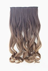 Heahair Full Head Clip In Hair Extensions Ombre One Piece 2 Tones