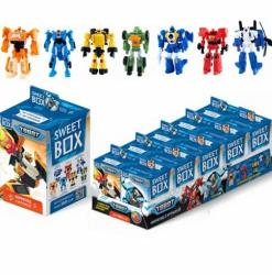 Optovichok Tobot Toys Playset Sweetbox Gummy With A Toys In The Box Sweet Box 10 PC Set Of Tobots Action Transformer Figures 10