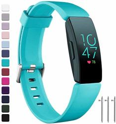 Compatible Ouwegaga With Fitbit Inspire 2 Bands For Kids And Fitbit Inspire Hr Band Women Men Teal Small