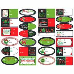 "Modern Christmas Adhesive Labels 9.3"" X 5.8"" 156 Ct."
