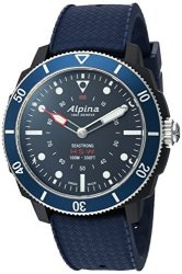 ALPINA Men&apos S &apos Horological&apos Quartz Stainless Steel And Rubber Smart Watch Color:blue Model: AL-282L