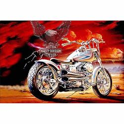 Diy 5D Diamond Painting Kit For Adults Full Drill Diamond Painting Diamond Sticker Stitch Painting Sets Diamond Dotz Kits New Paint By Numbers Motorcycle