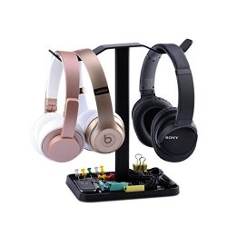 Avantree Neetto Dual Headphones Stand For Desk Headsets Holderhanger For Sennheiser Sony Audio-technica Bose Beats Akg Gaming He