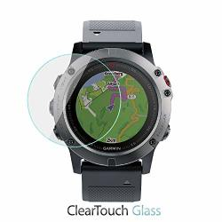 Garmin Fenix 5X Screen Protector Boxwave Cleartouch Glass 9H Tempered Glass Screen Protection For Garmin Fenix 5X
