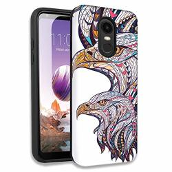 Mosaic Bald Eagles Double Layer Hybrid Case Cover For LG Tribute Empire risio 3 K8 K8 Plus 2018