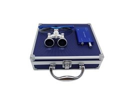 APHRODITE Aries Outlets YJ-01234678910111345-L 3.5 X 420MM Working Distance Surgical Binocular Loupes Optical Glass With LED Hea