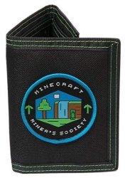MINECRAFT - Miners Society - Tri-fold Wallet - Black green