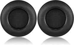 Kraken V2 Earpads Jecobb Replacement Ear Cushion Cover With Protein Leather & Memory Foam For Razer V2 Headphone Only Round Black