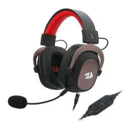 Redragon Zeus Usb virtual 7.1 2M CABLE 3.5MM Detachable Omnidirectional Boom MIC 53MM Driver gaming Headset - Black