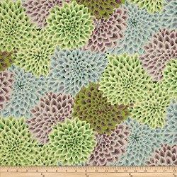49 West 37TH Street Kaffe Fassett Dahlia Blooms Succulent Fabric By The Yard