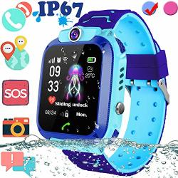 Upgrade Waterproof Kid Smart Watch Gps Tracker Touch Screen Phone Smartwatch With Sim Slot Game Anti-lost Sos Camera Voice Chat Smart Wrist Watch For