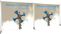 Exhibitor's Handbook PGSUS3-EXT-S Pegasus Supreme Telescopic Banner Stand Extension Kit Frame Silver