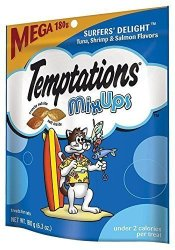 MARS Temptations Mixups Surfers' Delight Flavor Treats For Cats 6.3OZ. Pouch Mega Bag Pack Of 2 6.3OZ