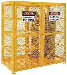 Streamline Industrial Cylinder Storage Cabinet For Propane & Welding Gases - Combo Horizontal & Vert