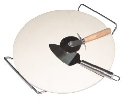 Alva - Pizza Stone With Lifter & Cutter