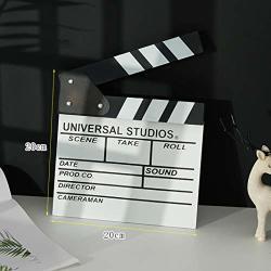 Wooden Director's Film Clapboard Cut Action Scene Clapper Movie Clapper Board White