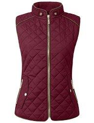 NE People Womens Lightweight Quilted Fur Zip Vest In Various Styles S-3XL