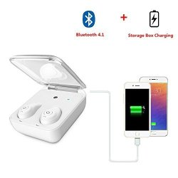 Changsha Hangang Technology Ltd Hangang Sports Earbud Wireless Bluetooth Earphone Hifi Wireless Headset Cable-free Earbuds Sport In-ear Headset Sweatproof Headphones Handsfree Earbud With Charging Box For Android ios White