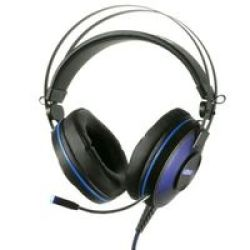 Mythics PS-U700 Pro Gaming Over-ear Headphones For PS4 7.1 Surround Black And Blue