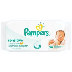 Pampers - Sensitive Baby Wipes 56S