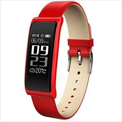 Xhzndz Fitness Tracker Smart Bracelet Body Health Blood Pressure Heart Rate Monitor Waterproof Sports Touch Screen Activity Smart Watch Color : Red