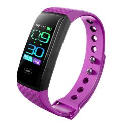 CK17S 0.96 Inches Ips Screen Smart Bracelet IP67 Waterproof Support Call Reminder Heart Rate Monitoring Blood Pressure Monitoring Sleep Monitoring Purple