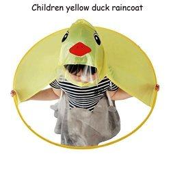 Charts_DRESS Chartsea Cute Rain Coat Ufo Children Umbrella Hat Magical Hands Free Raincoat S