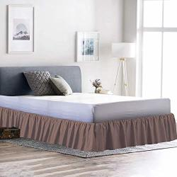 Black Solid 72X84 550 TC Egyptian cotton Bedding 1X Bed Skirt 18 Inch Drop Cal-King