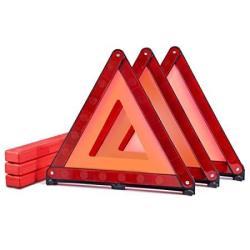 MysBiker Triple Warning Triangle Emergency Warning Triangle Reflector  Safety Triangle Kit 3-PACK 3 Pack Red | R1009 44 | Uncategorized |  PriceCheck SA
