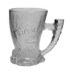 "Mcdonalds Corp Mcdonald's The Flintstones Glass 1993 Mammoth Mug 4 1 2"""