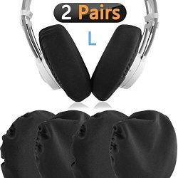 Geekria Flex Fabric Headphone Earpad Covers stretchable And Washable Sanitary Earcup Protectors. Fits 4-6 Over-ear Headset Ear C