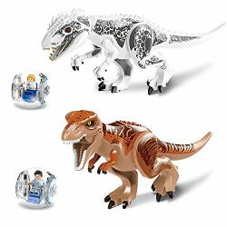 """JVNVDS 11.2"""" Big Dinosaur With Ball Car And Minifigure Tyrannosaurs Rex Action Figure Building Blocks Toy Safe To Play 11.2"""" 5.7"""" Kids Gift"""